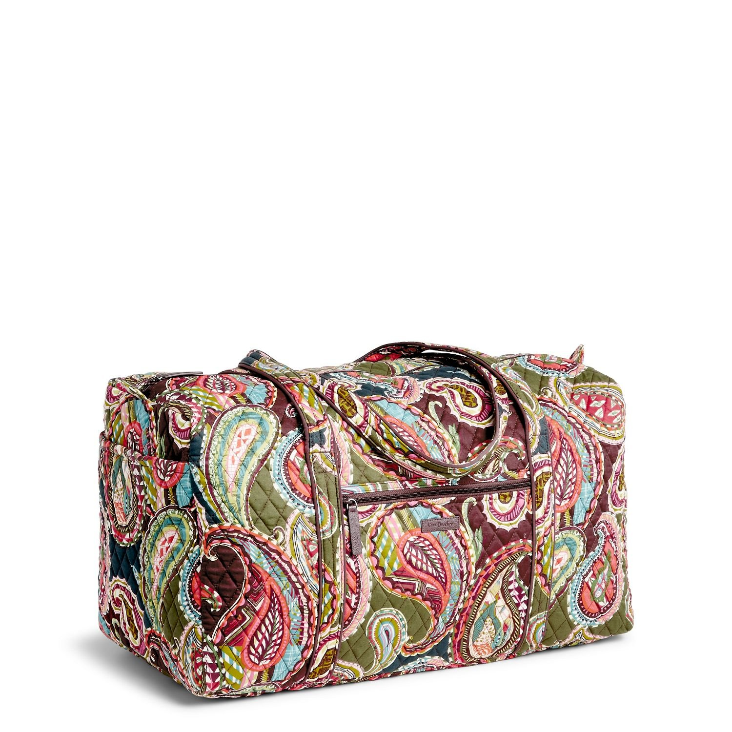 Vera Bradley Large Duffel Bag (Batik Leaves)