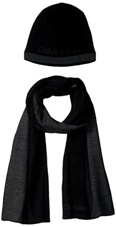Calvin Klein Men s Hat and Scarf Set 22d449da120