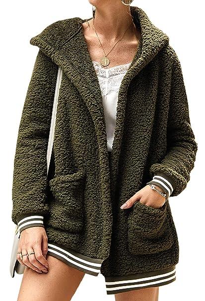 Amazon.com: ECOWISH Abrigo de invierno para mujer, de gran ...