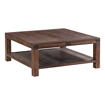Amazoncom Modus Furniture 3F4121 Meadow Coffee Table Brick Brown