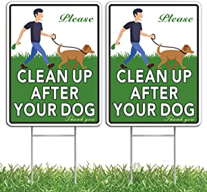 HOME COMPOSER 2 Pack No Pooping Dog Signs for Yard, 12