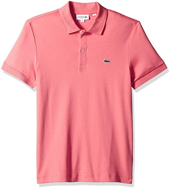 a5a90075 Lacoste Men's Short Sleeve Pima Jersey Interlock Regular Fit Polo
