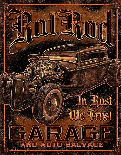 Desperate Enterprises Rat Rod Garage Cartel de Chapa Placa ...