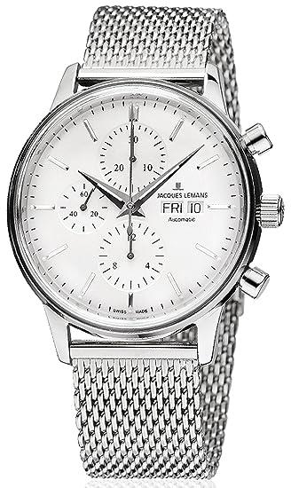 20f5d9a3bd1 Jacques Lemans - Orologio da uomo con cronografo automatico