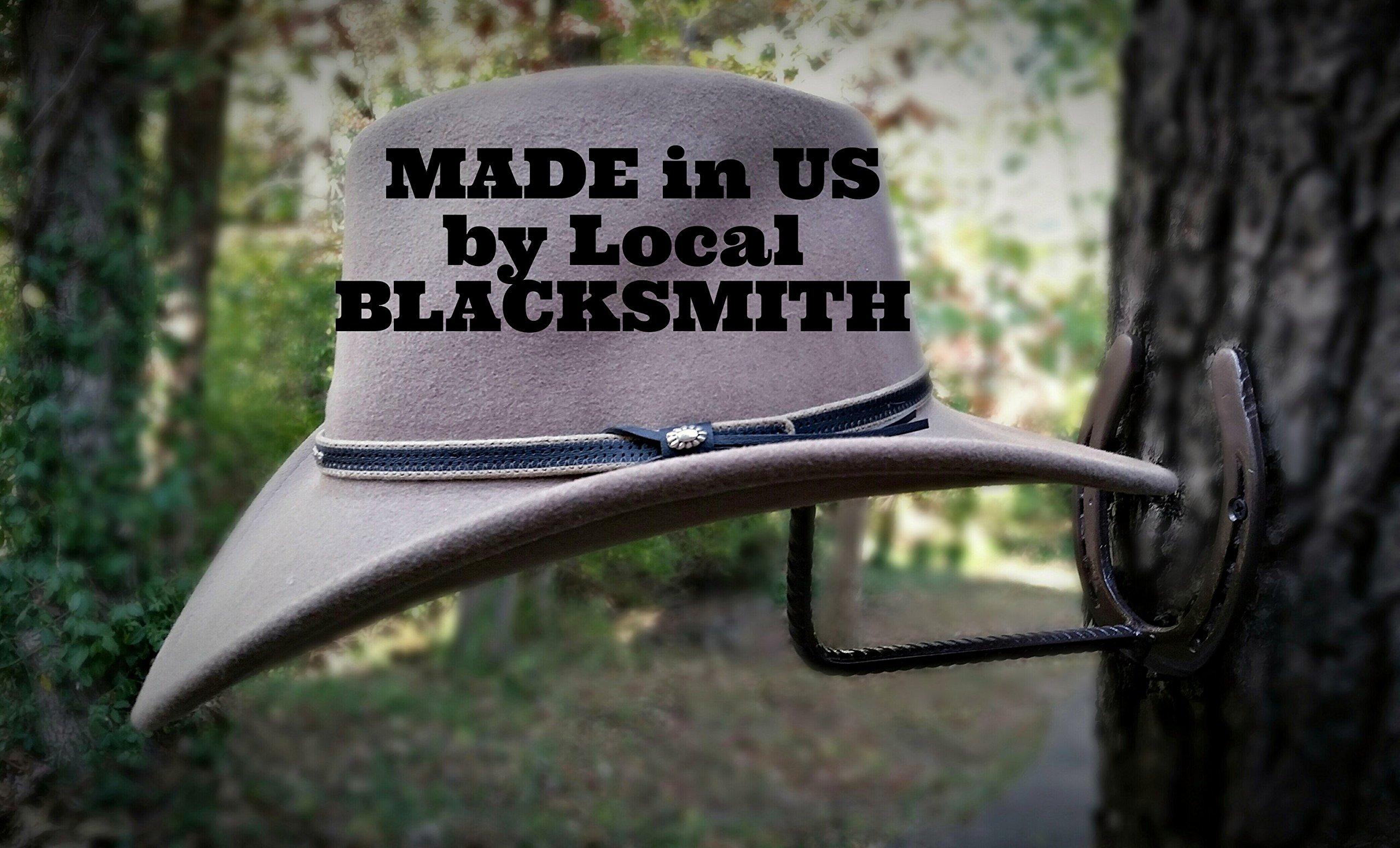 New Shoes, Horseshoe Cowboy Hat Rack, Blacksmith Made, Real Horseshoes