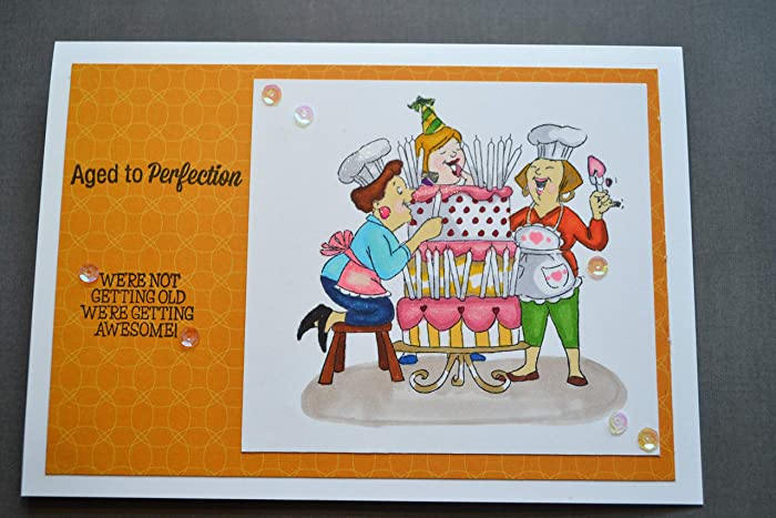 Amazon Handmade Happy Birthday Card Best Friends Aged To