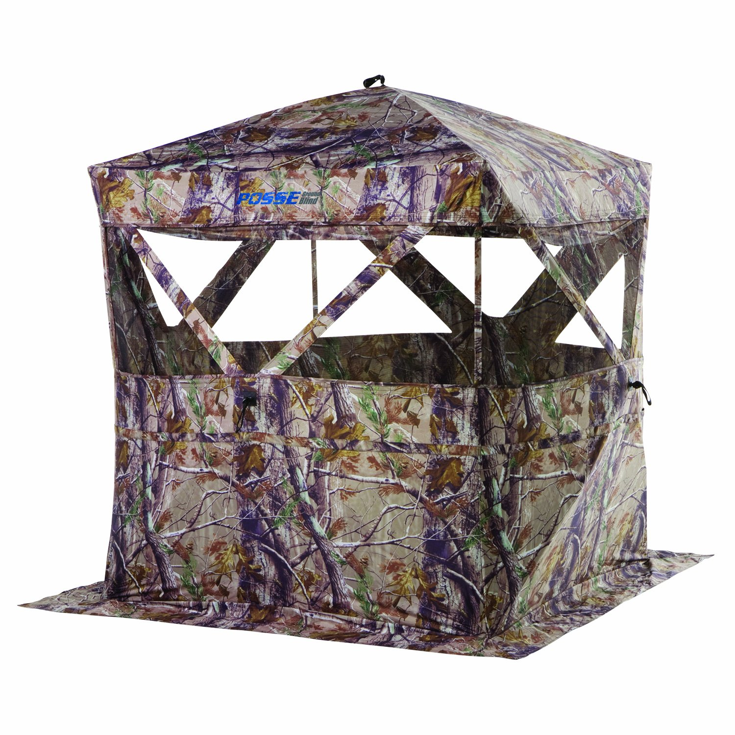 blind ground doghouse ameristep blinds watch person youtube