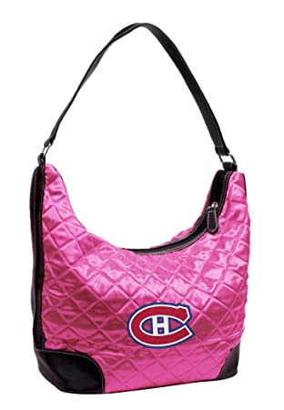 0a566b27065 Littlearth NHL Montreal Canadiens Pink Quilted Hobo, Women s ...