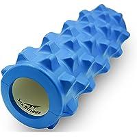 Yo.Fitness Foam Roller para masaje corporal | Cilindro de Hule Espuma para auto masaje y relajacion de musculos | Para tratamiento del dolor miosfascial de espalda, cuello & pierna | Masaje de fascias | Con Ebook