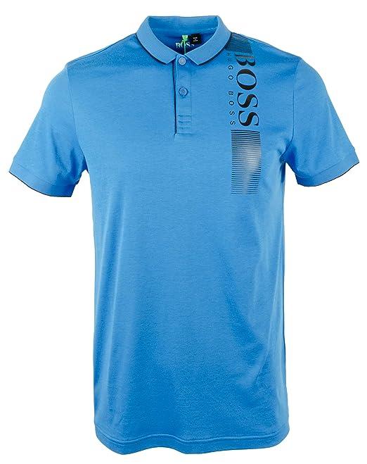 4d21f8fb6 Hugo Boss Men s Slim-fit PL-Tech Polo Shirt-BB-S Bright Blue  Boss Hugo Boss   Amazon.ca  Clothing   Accessories
