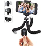 Mini Cell Phone Tripod - AnyMore Flexible Tripod with Bluetooth Remote and Universal Clip for iPhone, Android Phone, Camera, Sports Camera