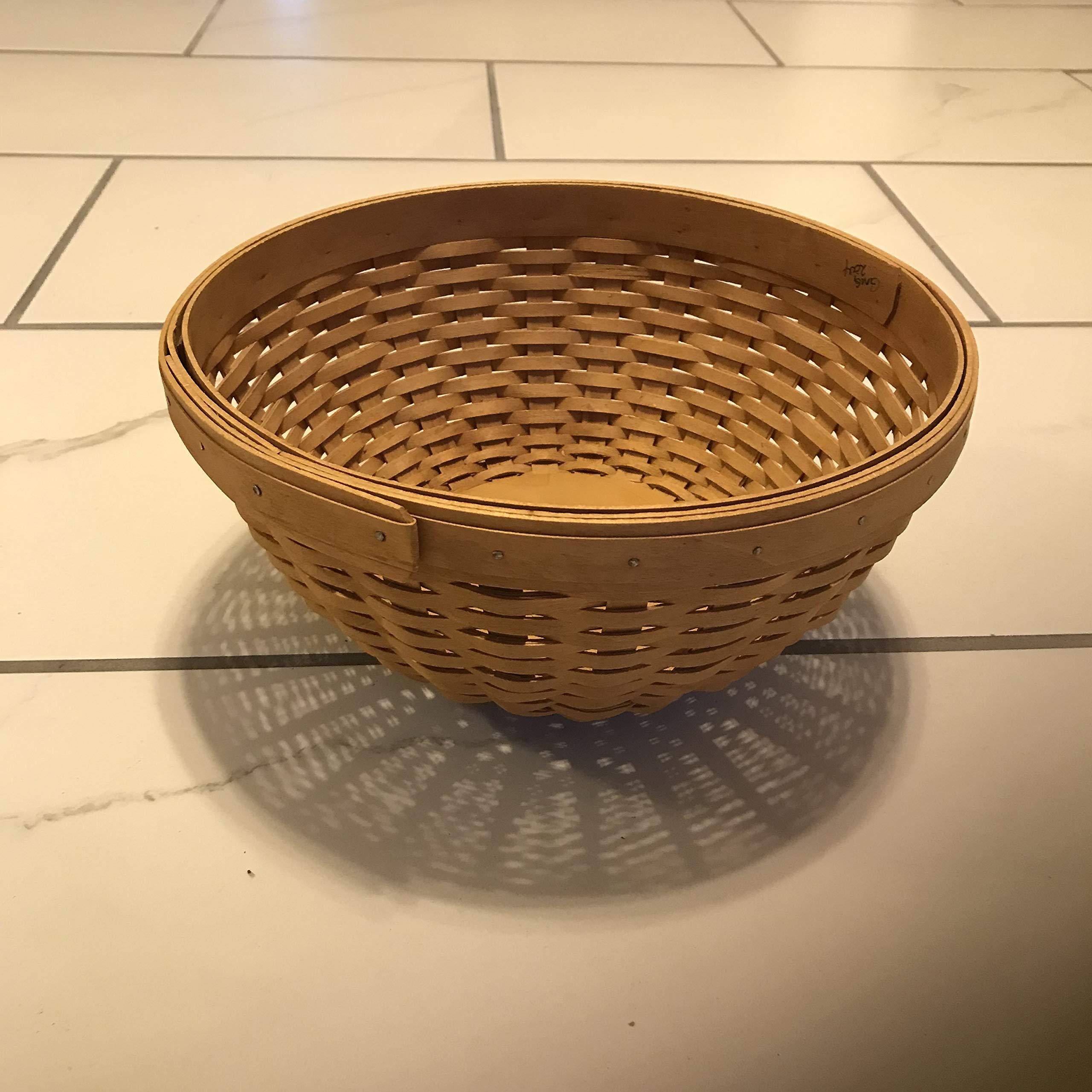 Longaberger Large Round Basket Bowl