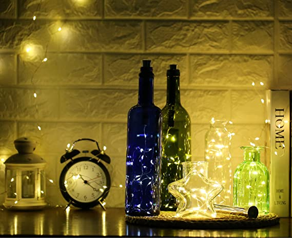 Amazon.com: Botella Luces Luces en Forma de Corcho con 6 ...