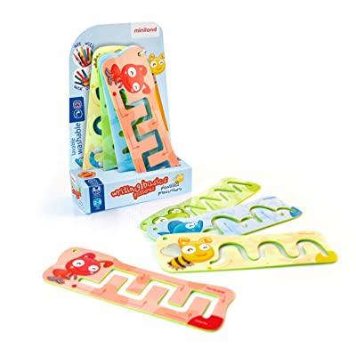 Miniland Educational - Pre-Writing Basic Patterns Stencils: Toys & Games