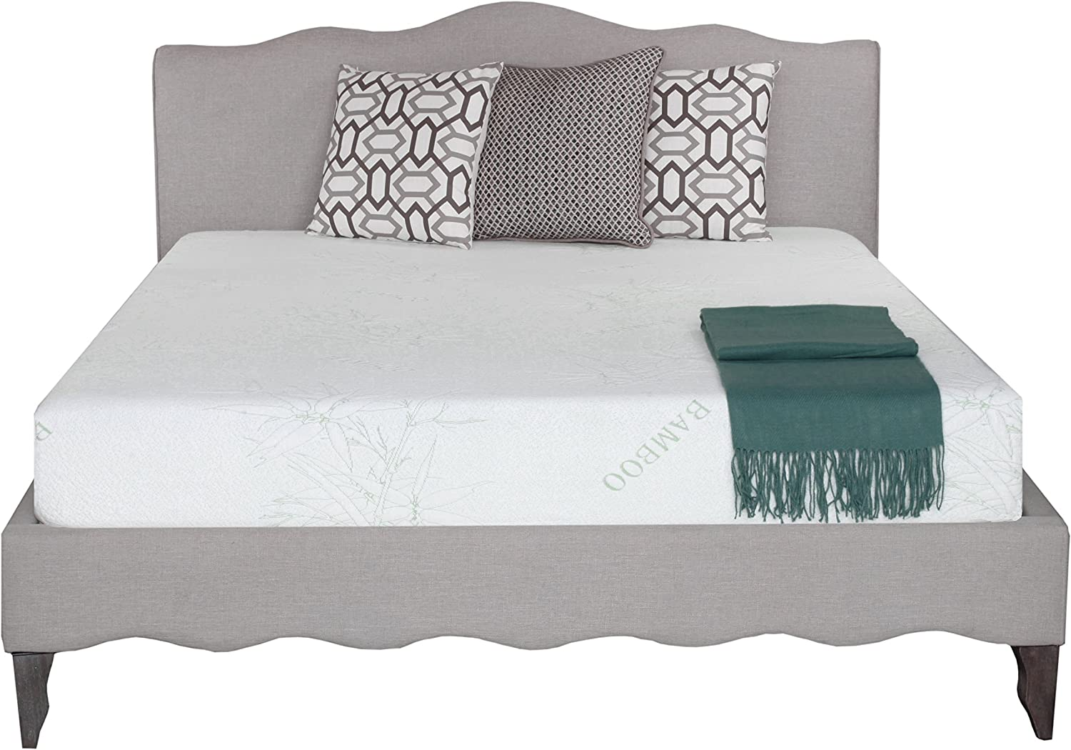 Irvine Home Collection 8-Inch Gel Memory Foam Mattress-Twin Size