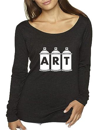 Amazon com: Trendy USA 926 - Women's Long Sleeve T-Shirt Art