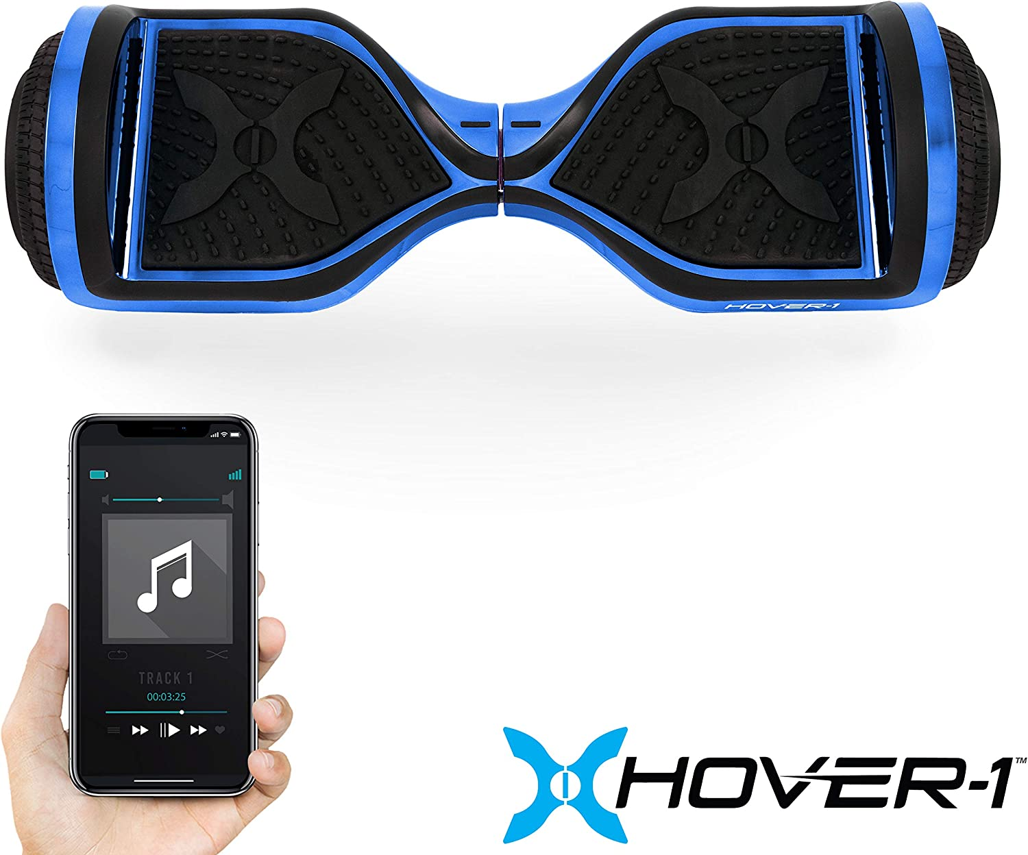 Hover-1 Chrome Electric Hoverboard Scooter Blue - 4