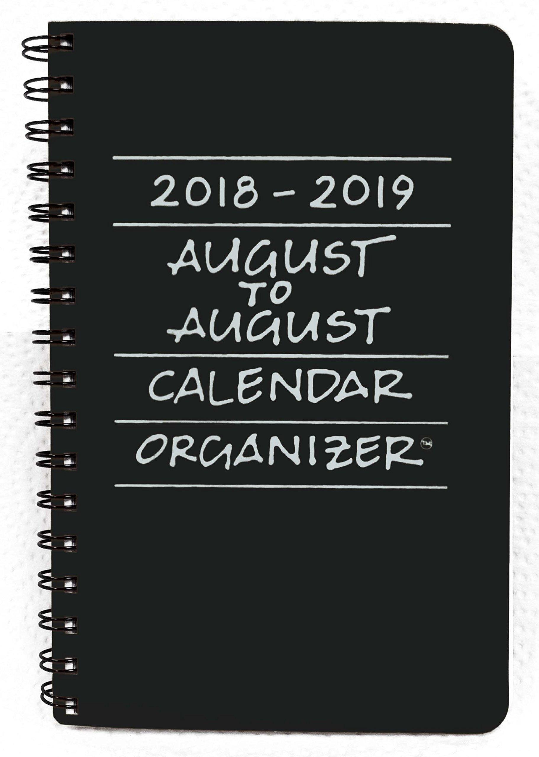 2018-2019 August to August Calendar Organizer- Licorice