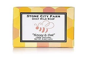 Honey & Oat Goat Milk Soap - 100% Natural 5 oz. Bar