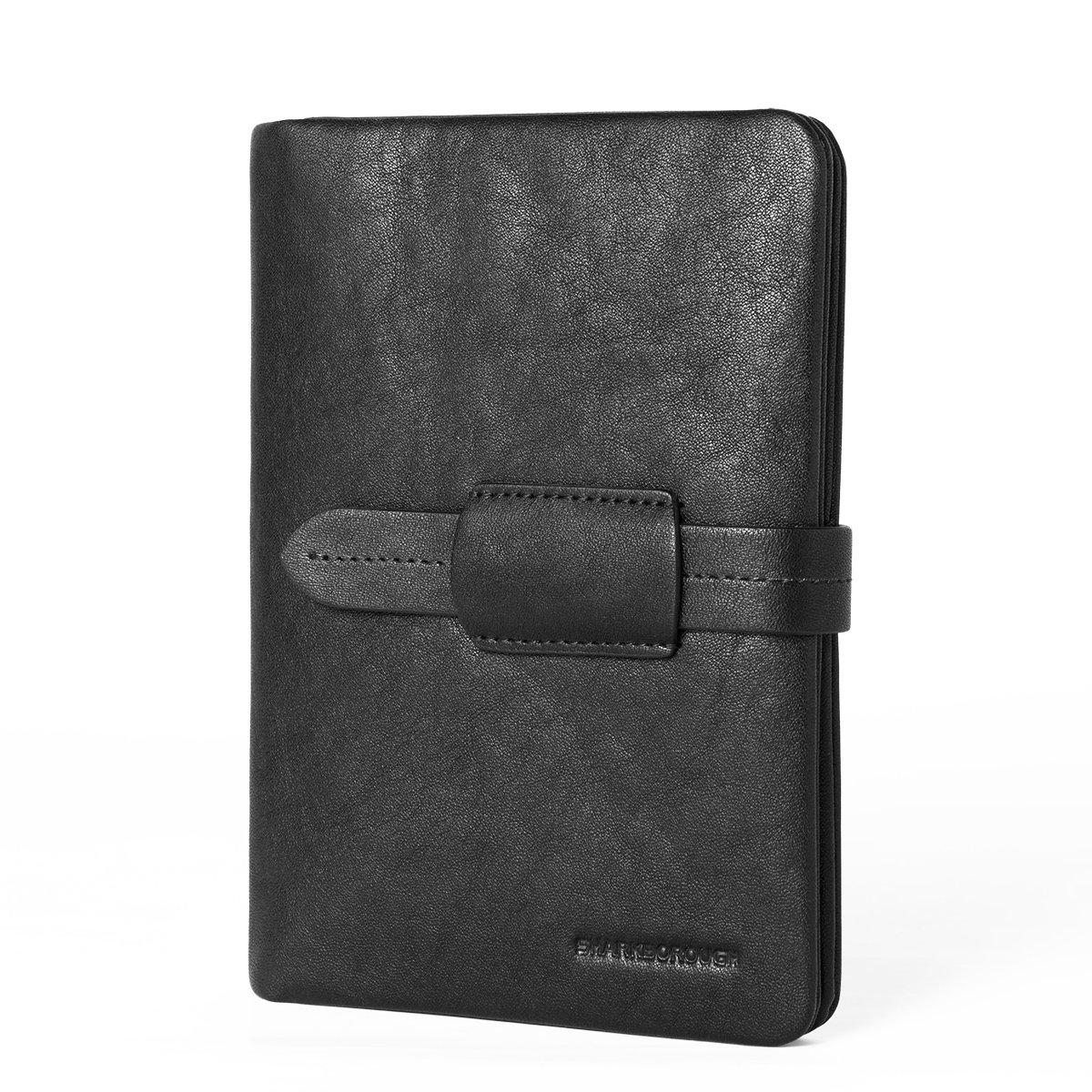 Sharkborough Damier Classique Leather Passport Holder Bifold Travel Wallet For Men And Women Cover Slim Id Card Case