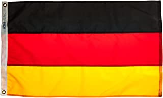 product image for Annin Flagmakers Model 192895 Germany Flag Nylon SolarGuard NYL-Glo, 2x3 ft, 100% Made in USA to Official United Nations Design Specifications