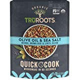 TruRoots Organic Quick Cook Quinoa, Brown Rice and Lentil Blend,Olive Oil and Sea Salt, 8.5 Ounces (Pack of 8)