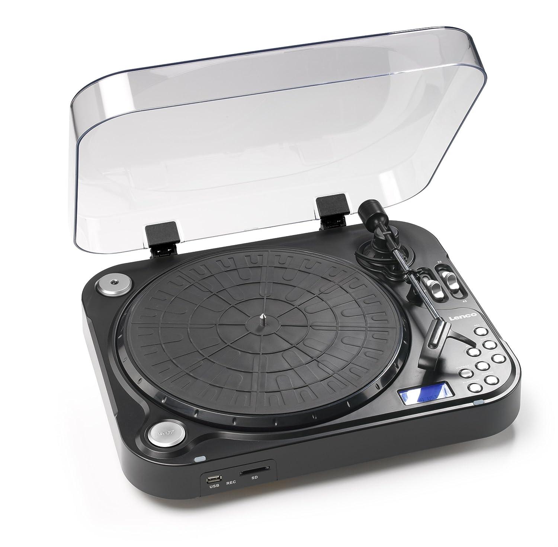 Lenco L-71 - Tocadiscos (MP3/WMA, 14W, 230V, 50 Hz, Negro, 412 x ...