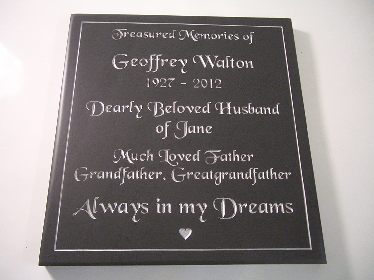 9c993e01710d Slate Memorial Plaques for People ideal for all Gardens (200mm x 150mm):  Amazon.co.uk: Garden & Outdoors