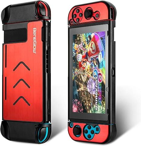 Nintendo Switch Case Kit, BeneGlow portátil de aluminio de viaje de protección dura llevar maletín Shell para Nintendo Switch y Joy-Con: Amazon.es: Videojuegos