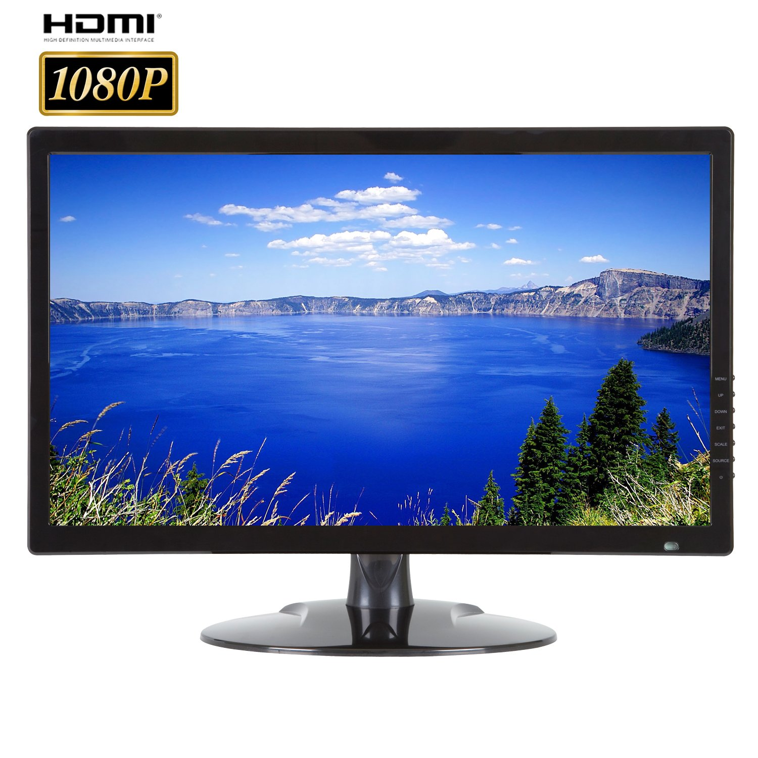 101AV Security Monitor 21.5-Inch True Full HD 1080P 3D Comb Filter 1920x 1080 HDMI VGA and Looping BNC Input Wide Screen Audio Video Display Computer PC monitor for CCTV DVR Home Office Surveillance Optional mount by 101 Audio Video Inc. (Image #1)