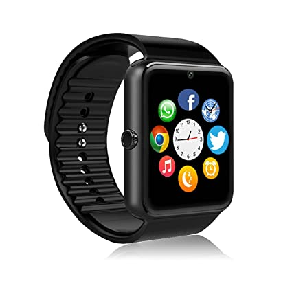 MSRMUS Smart Watch Compatible for Iphone 5s/6/6s/7/7s and Android 4.3 above, Anti Lost and Pedometer Fitness Tracker (Partial Functions) Black