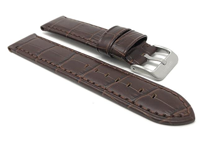 Amazon.com: 22mm Brown Waterproof Smartwatch Band Strap fits ...