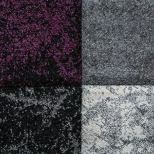Tapis De Designer Valence Moderne Aspect Marbre Carreaux Chiné Lilas Gris Blanc, Dimension:160x230 cm