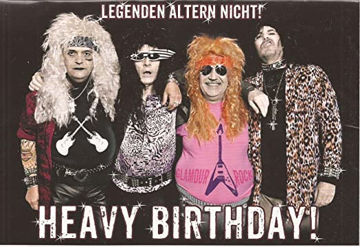 Undercover Klappkarte Heavy Birthday Legenden Altern Nicht