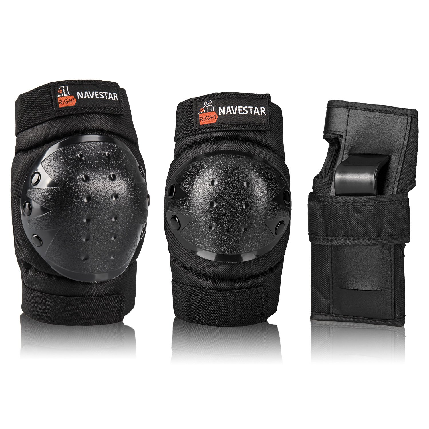 NAVESTAR Knee Pads Elbows Pads Wrist Guards 3 in 1 Protective Gear Set for Skateboarding, Inline Roller Skating