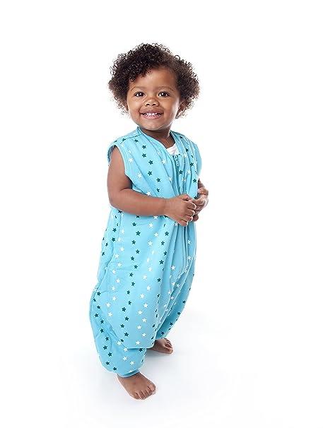 Slumbersac - Saco de dormir con diseño de estrellas para bebé (para todo el año, con pies, 2.5 tog, disponible en 4 tallas) Teal Blau Talla:3-4 años: ...