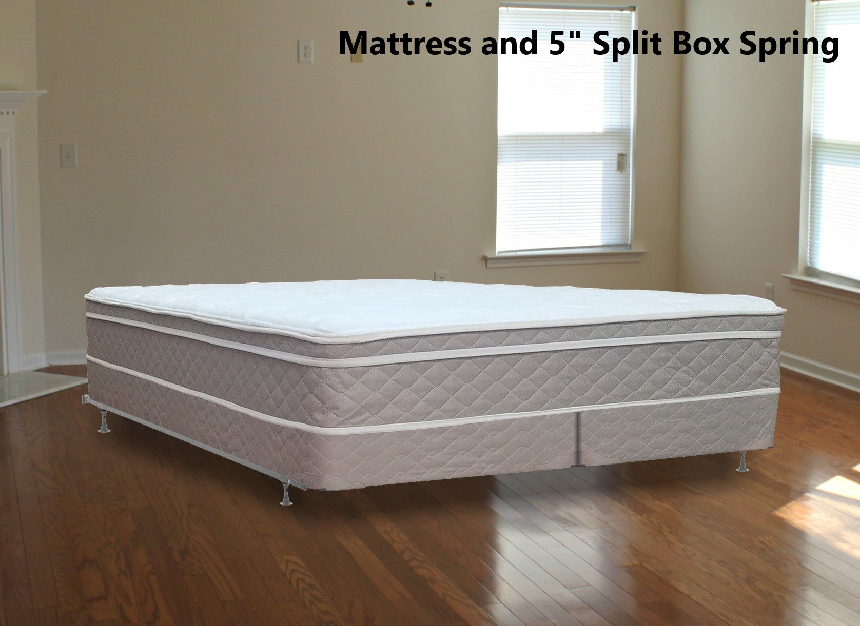 Continental Mattress 10''  Pillowtop Eurotop  Fully Assembled Orthopedic Back Support  Plush  Mattress and 5-Inch Split Box Spring,Full XL