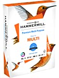 Hammermill Paper, Premium Multipurpose Paper, 8.5 x 11 Paper, Letter Size, 20lb Paper, 97 Bright, 1 Ream / 500 Sheets (105910R) Acid Free Paper