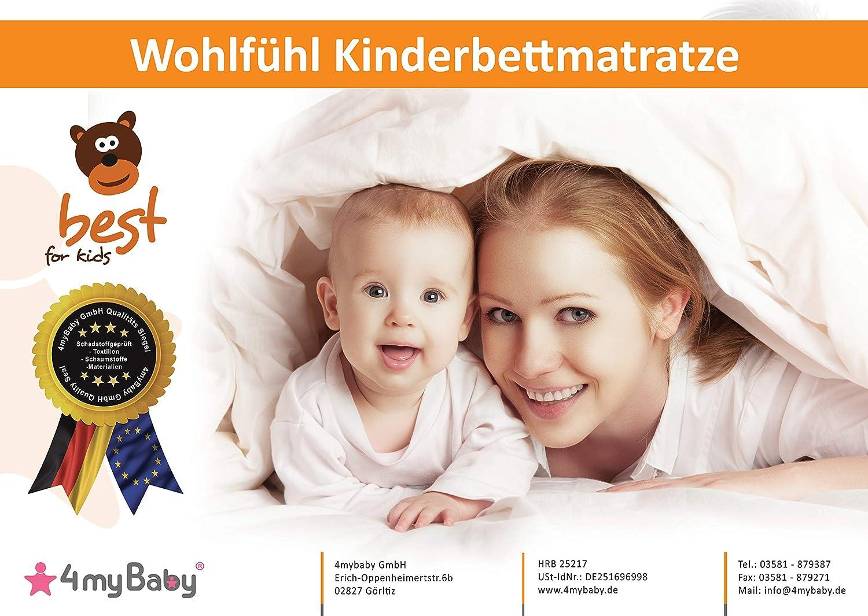 60x120 MATELAS CONFORT MAXI BEST FOR KIDS avec CERTIFICAT T/ÜV 60 x 120 x 10 cm Matelas dot/é de tr/ès bonnes propri/ét/és pour la sant/é et lenvironnement