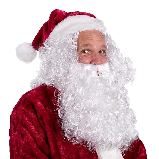 Amazon.com: Boo Inc. - Disfraz de Papá Noel y peluca para ...