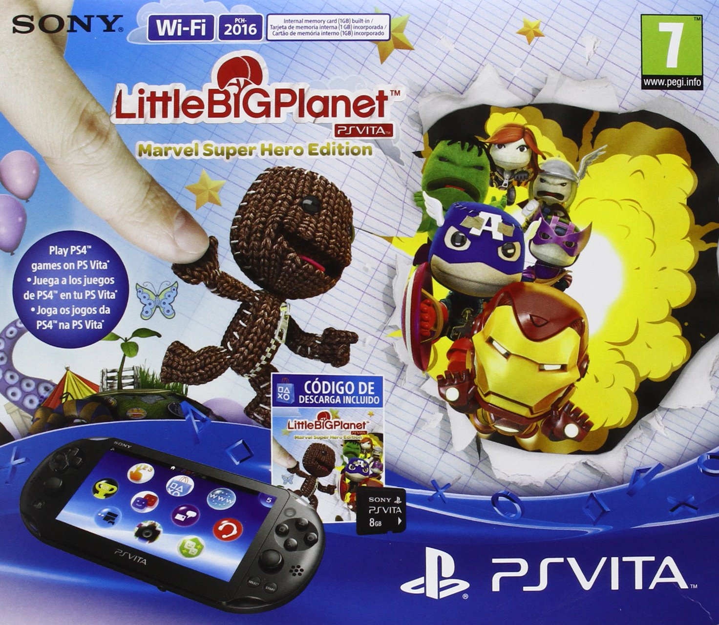 PlayStation Vita - Consola + LittleBigPlanet - Marvel ...