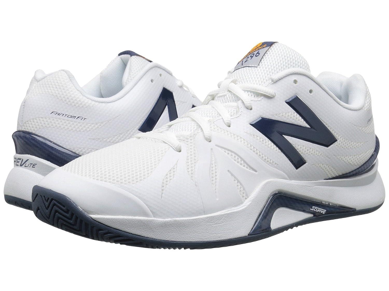 (ニューバランス) New Balance メンズテニスシューズスニーカー靴 MC1296v2 White/Blue 10 (28cm) EE - Wide B0788TG46M
