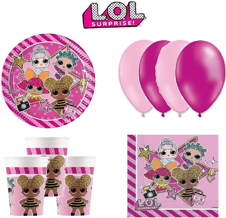 LOL Surprise cumpleaños - Kit de cumpleaños 8 Personas: Amazon.es ...