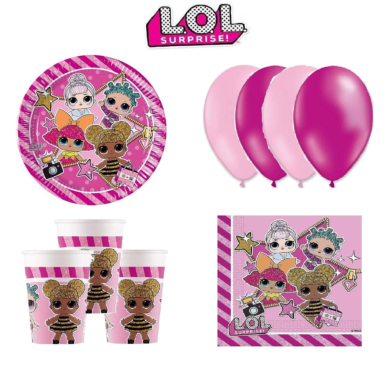 LOL Surprise cumpleaños - Kit de cumpleaños 8 Personas