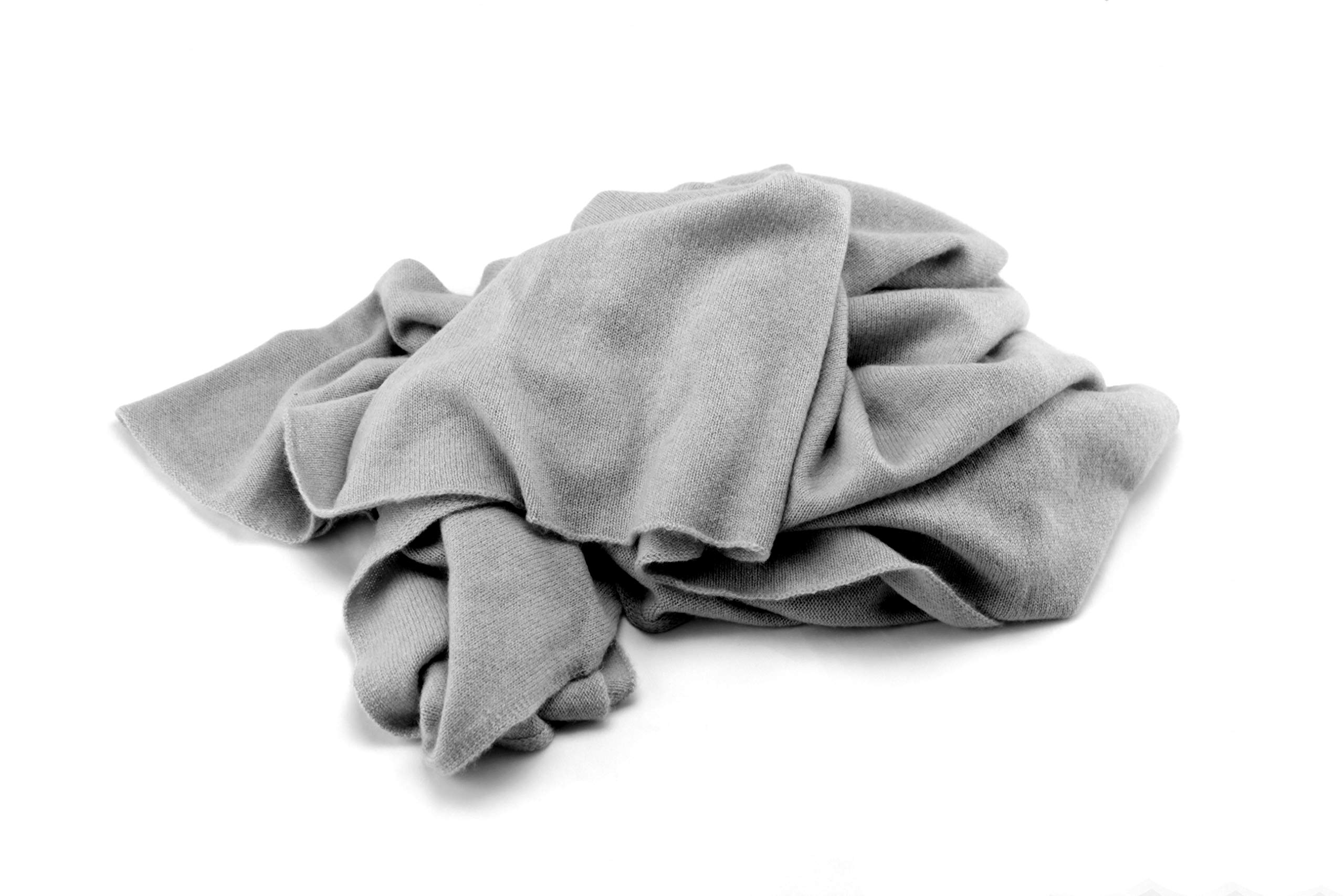 Jet&Bo 100% Pure Cashmere Lightweight Travel Wrap & Scarf Gray 7GG by Jet&Bo