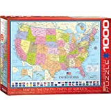 """Eurographics 6000-0788 """"Map of the United States"""" Puzzle (1000-Piece)"""