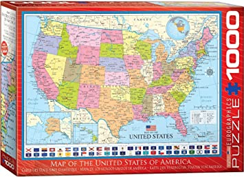 "Eurographics Puzzle ""Map of The United States of America"" (""Karte ..."
