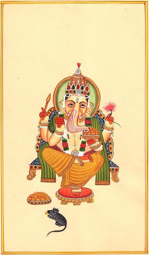 Ganesha Ganesh Lord Ganesha Watercolor Print Wall Wedding Gift Poster Giclee Art