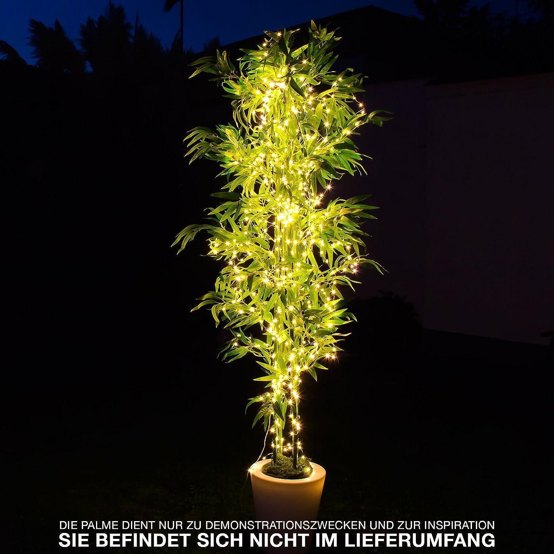 250 cm LED Lichterbündel Lichterdraht 14 Drähte mit 700 warm ...