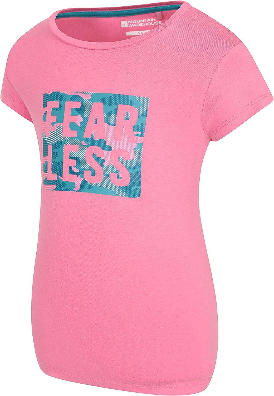 Mountain Warehouse Fearless t-Shirt Infantil - Camiseta Ligera para niños y niñas, Top Infantil Transpirable, Parte de Arriba con Estampado - Exterior, Senderismo: Amazon.es: Ropa y accesorios